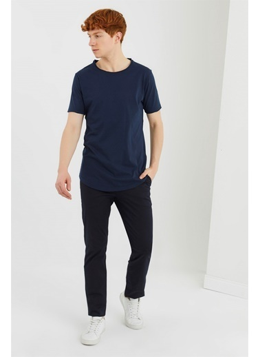 Z Giyim Likralı Keten Pantolon Lacivert